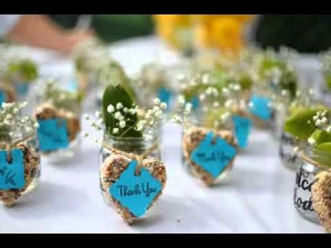 Many wedding favours ideas in one video (no sound).