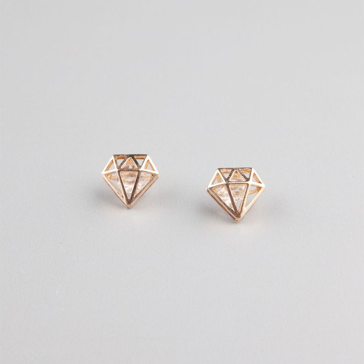 FULL TILT 3D Diamond Stud Earrings 224937621 | Earrings | Tillys.com