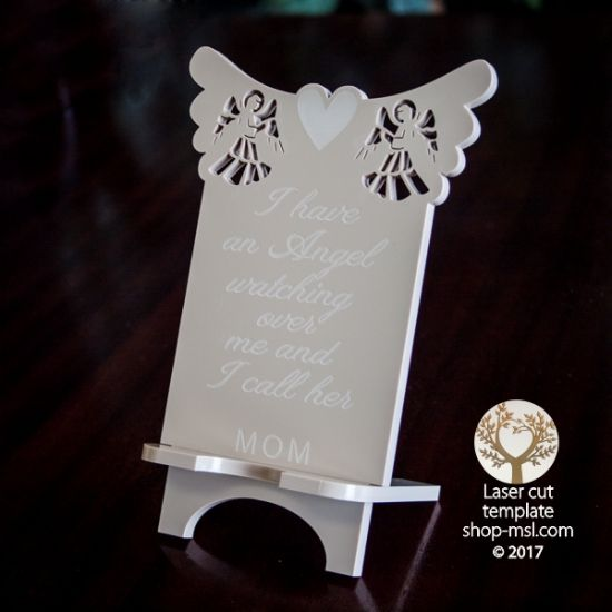 Product Cell phone stand laser cut and engrave inspirational Mother's Day message template, pattern, design, Mothers day gift. Free Vector designs every day. @ shop-msl.com