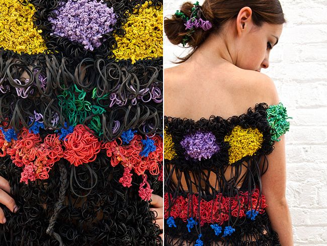 Colorful Rubber Band Dress Up Close Fashion