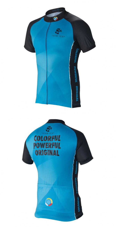 Team ICG® Radtrikot CbC blau: Unser CbC (Coach by Color®) Kurzarm Radtrikot in blau.