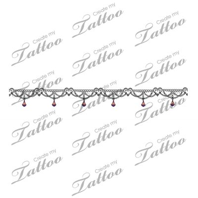 Would be cute in gold. Marketplace Tattoo Heart Charm and Silver Chain Wraparound Thigh Garter or Anklet Tattoo #16822 | CreateMyTattoo.com