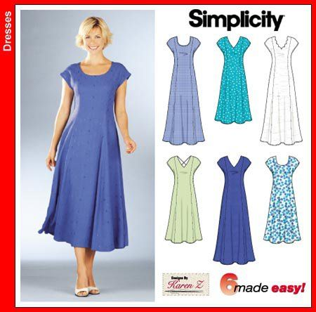 Simplicity 7078 Princess line dress sewing pattern