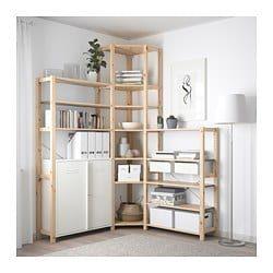 IKEA IVAR Weißer Schrank mit Tür