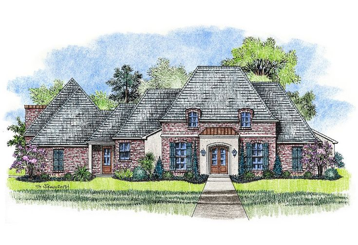 Kabel Country French Designer Home Plan 2500 Pinterest