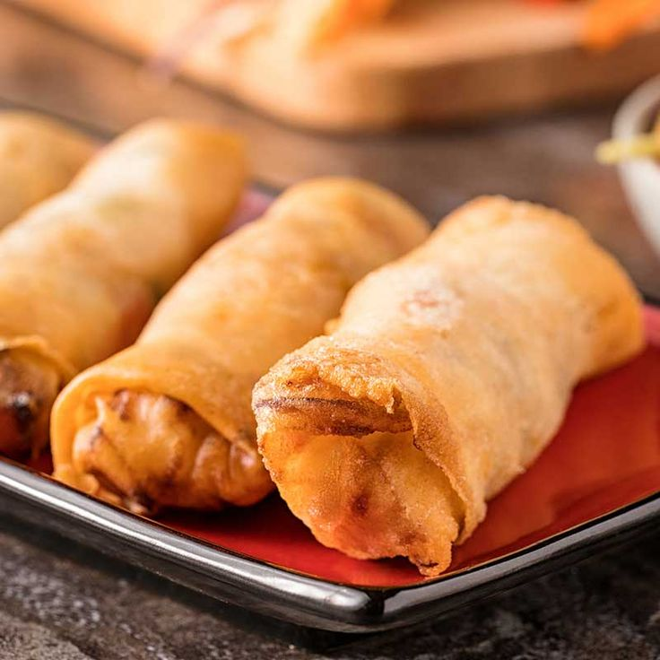 These crispy spring rolls are loaded with sweet, tender maple chicken for the perfect cross between Asian and Canadian flavours.