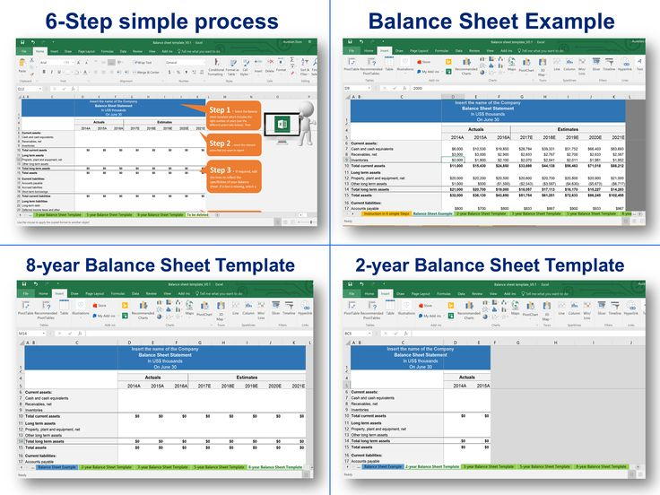 11 best Simple Balance Sheet Template By ex-Deloitte Consultants - simple balance sheet