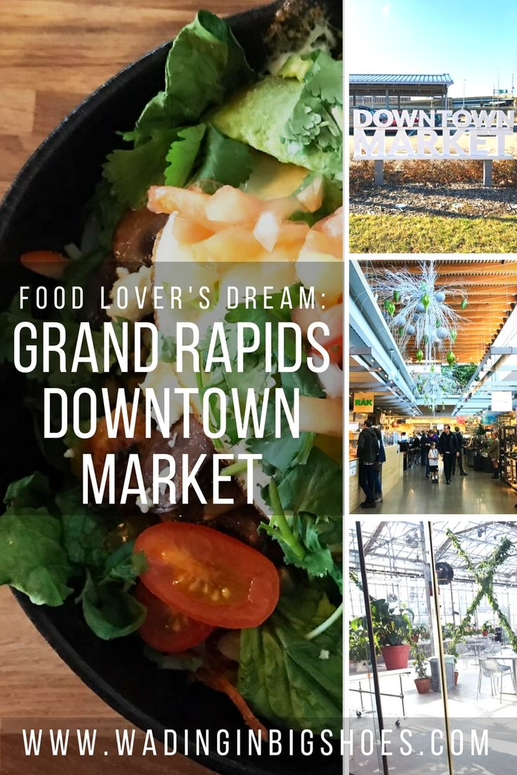 Food Lover's Dream: Explore Grand Rapids' Downtown Market //// Grand Rapids Downtown Market is a multipurpose facility that celebrates Michigan's food and farming culture through local food production, education, entrepreneur opportunities, and more. Click through to learn about the market, special events, and great eateries like Social Kitchen, Slow's Bar-BQ, Love's Ice Cream, Sweetie-licious Bake Shoppe, and Madcap Coffee! //// via Wading in Big Shoes