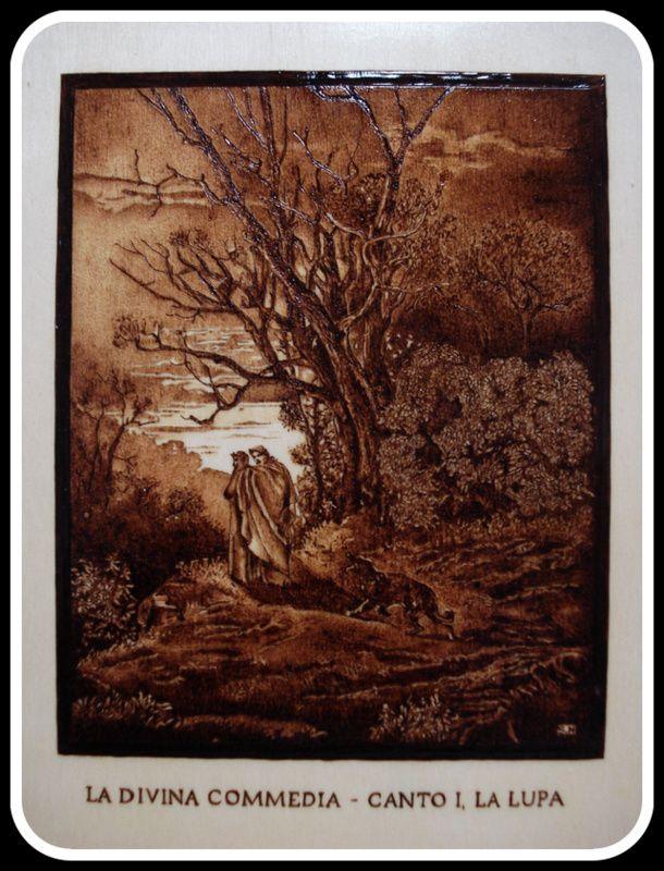 #Illustrazione #Inferno di #Dante di Simone Naldini #artigianato #pirografia http://omaventiquaranta.blogspot.it/2013/11/linferno-dantesco-di-simone-naldini.html