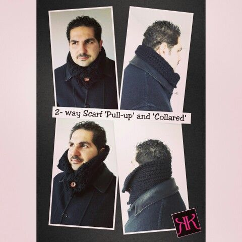 Collared Button Scarf