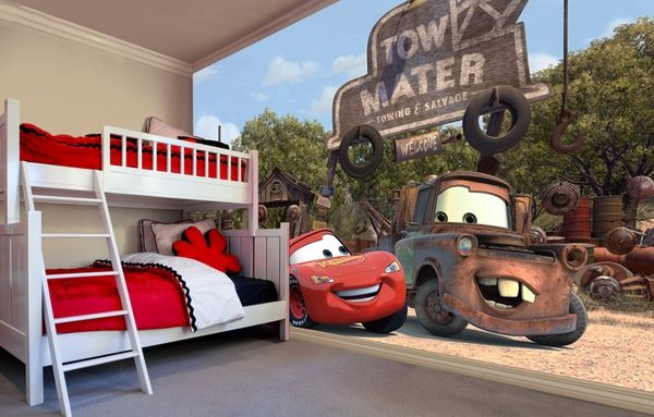 Disney Cars mural - I want one, but can't afford it.  A mom can dream!
