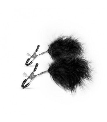 Verstellbare Nippelklemmen mit Federn - erotik-passion  Die verstellbaren Klemmen sind für jeden Benutzer geeignet, auch für Anfänger, da Sie den Druck der Klemmen auf Ihre Brustwarzen einfach einstellen können.