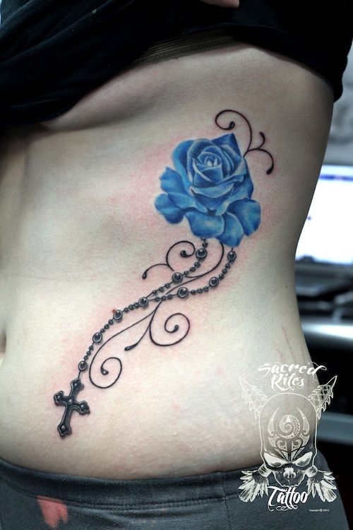 Blue Rose and Rosary