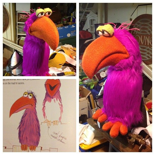 "Puppet bird by James Wojtal, based on a design from ""Jim Henson: Designs and Doodles"""