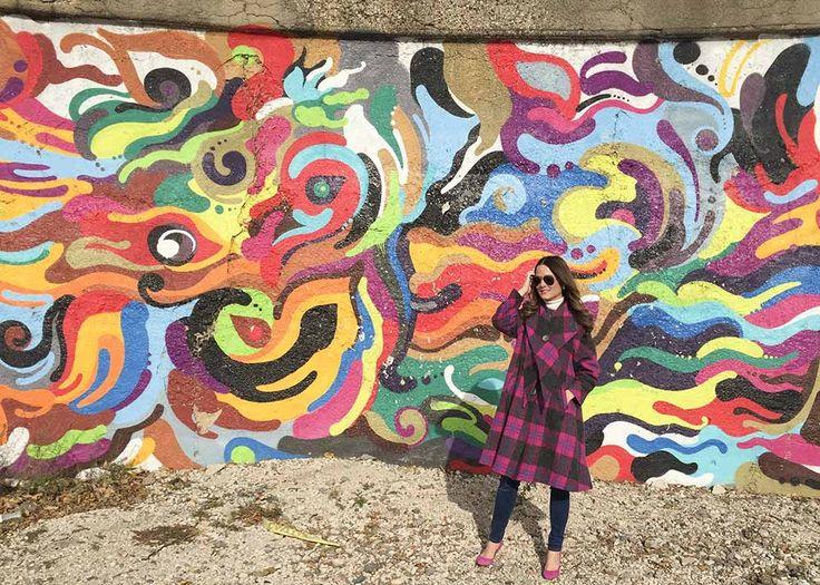 Multicolor Wall Mural Street Art Pilsen