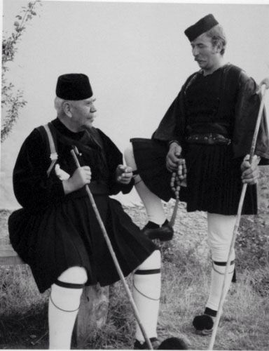Men with traditional costumes from Mechovo,Epirus,Greece
