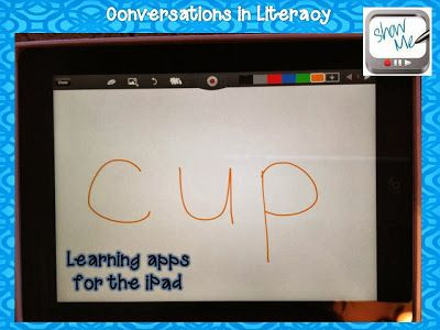 learning apps for the ipad to use in your classroom- show me app white board