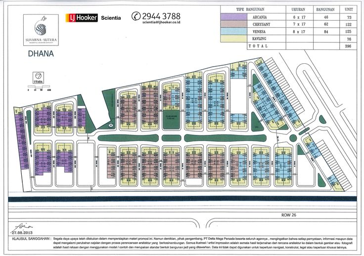Site Plan Cluster Dhana - Colour