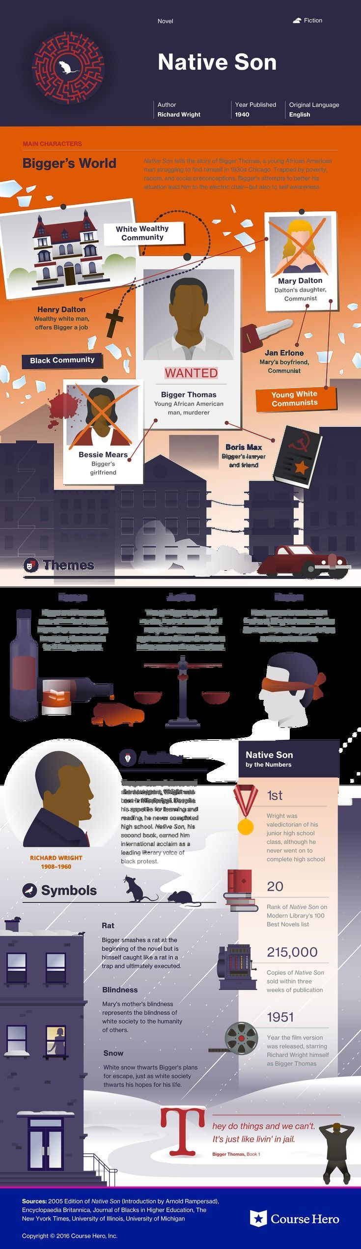 This @CourseHero infographic on Native Son is both visually stunning and informative!