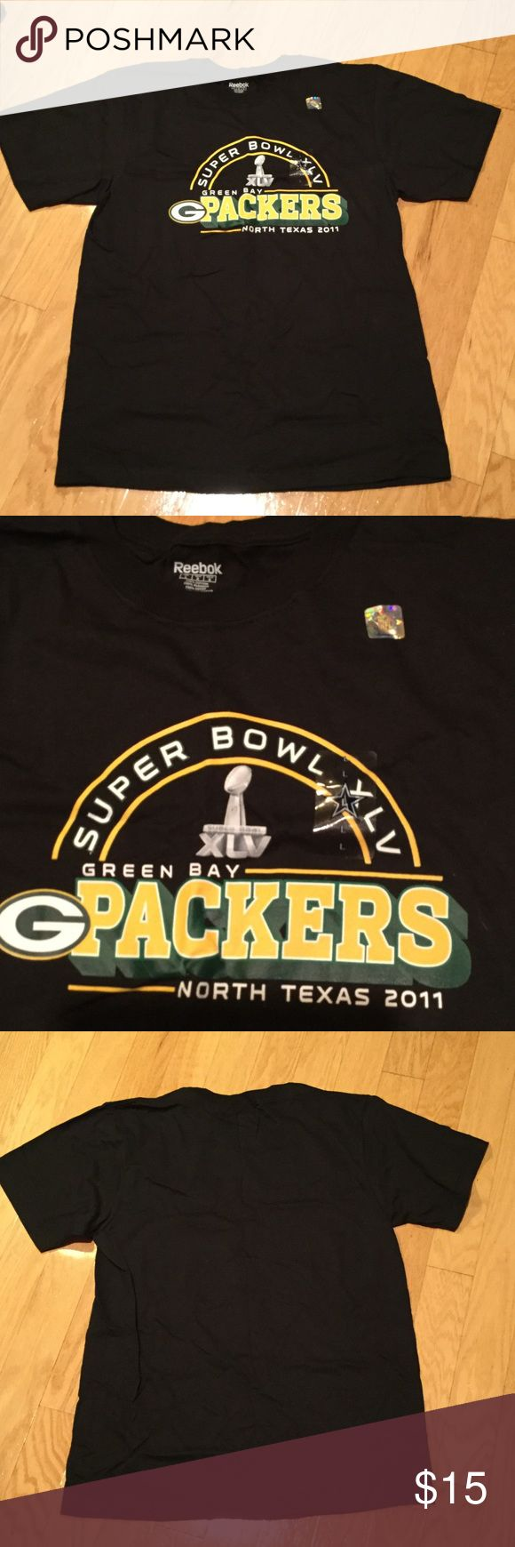 Green Bay Packers Super Bowl Champions T Shirt Green Bay Packers Super Bowl Champions t shirt.  Brand new with tags still on shirt. Reebok Shirts Tees - Short Sleeve