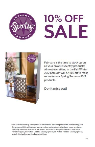 #Scentsy 10% off Sale in Feb!