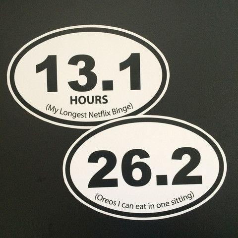 (Netflix) Marathon Bumper Sticker