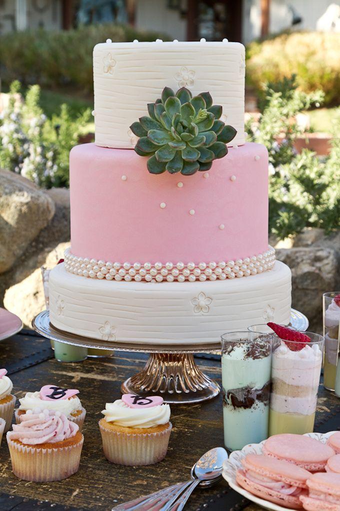 pink & succulent cake | Cardin Creative Photography