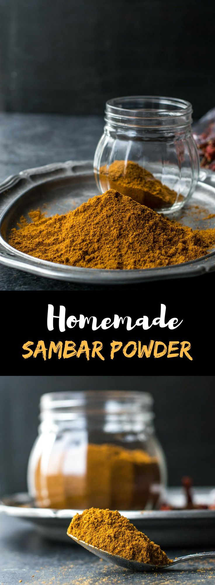 Sambar powder is this aromatic spice blend that transforms ordinary lentil-vegetable dishes into delicious, wholesome stews. Make the recipe today and you'll never buy this spice blend from the store again! via @simmertoslimmer