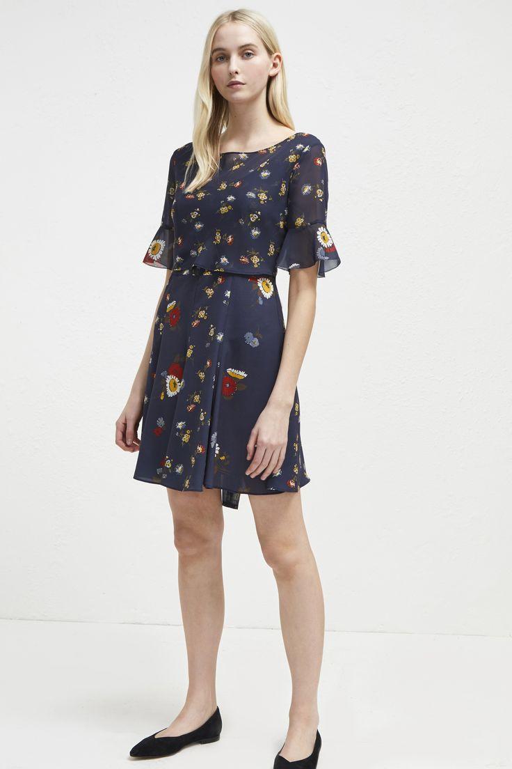 Baudet print twist waist dress dresses french