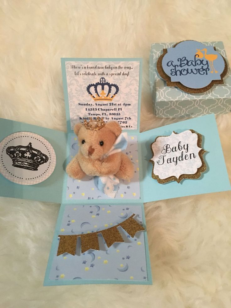 A personal favorite from my Etsy shop https://www.etsy.com/listing/385731694/boy-baby-shower-exploding-box-invitation