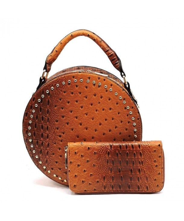 0e3feb71717c Handbag Republic Croc Embossed Round Satchel w  Strap + Wallet- Taupe  (Brown) - CG187OD7XS4  Satchels  bags  handbags  style  Tote