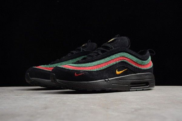 50% off differently latest discount Gucci X Nike Air Max 97 1 Noir Rouge Vert | Nike air max 97, Nike ...