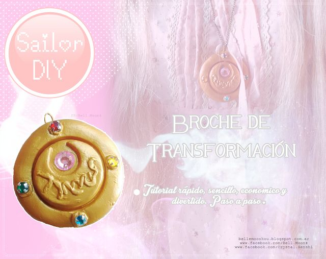 Because I'm Magical☆:*´¨: 『Diy:Broche de Sailor Moon』♡