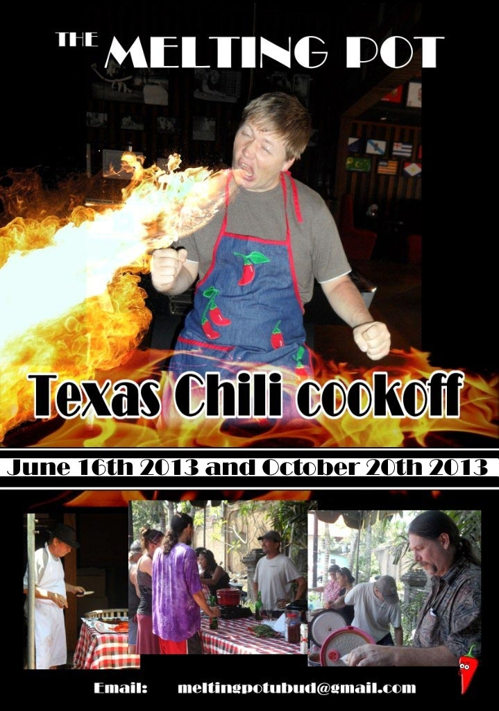 The Melting Pot - Chili Cookoff!  Coming up, June 16th 2013!