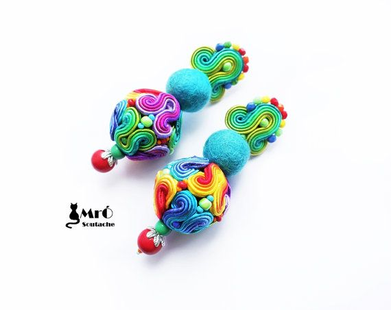 Hey, I found this really awesome Etsy listing at https://www.etsy.com/ru/listing/226775240/frida-rainbow-soutache-balls-colorful