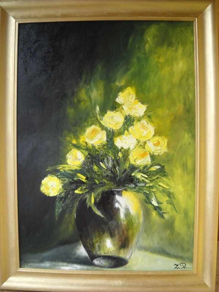 żółte róże ...