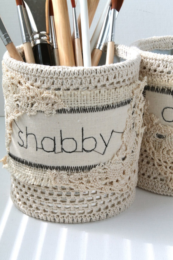 37 best images about Shabby chic pencil holder on ...