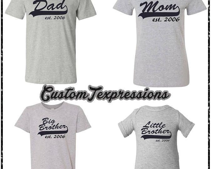 Familia de béisbol camisetas de juego familia Set de 4 juego