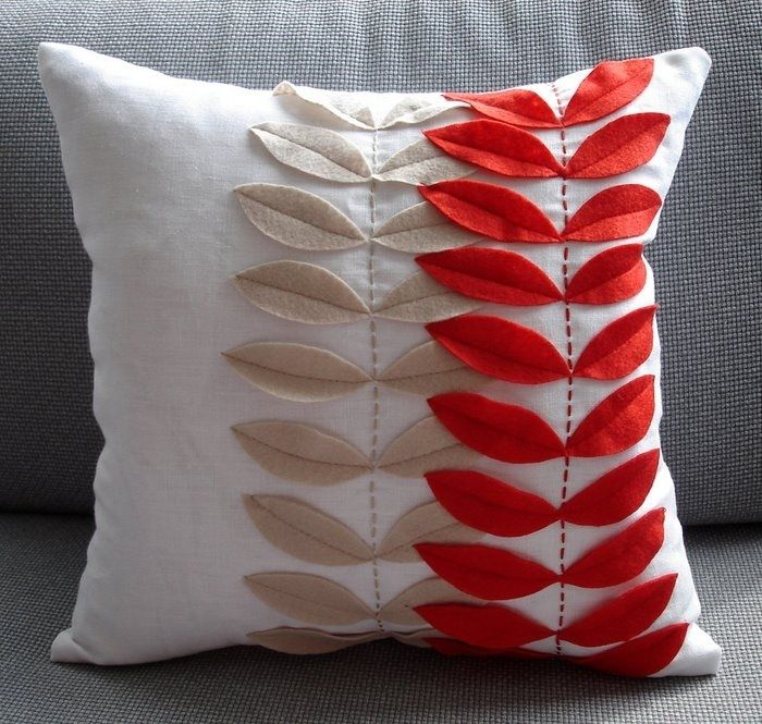 craft ideas for home and gifts: pillows with application | make handmade, crochet, craft
