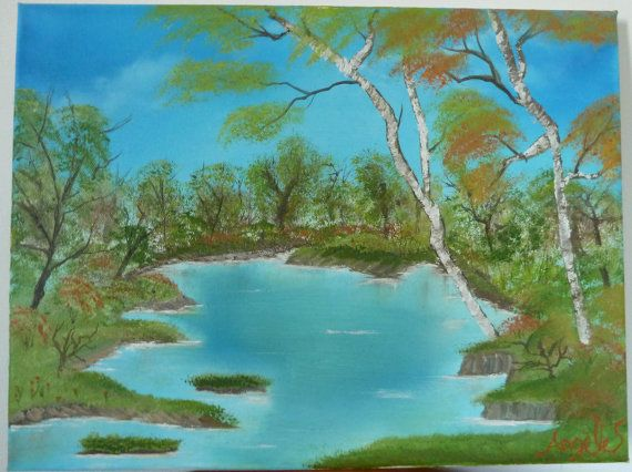 Oil painting with a great story by BaptismSupplies on Etsy
