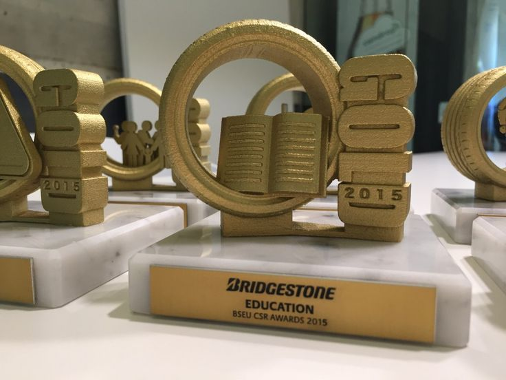 Gemaco - Unides - Bridgestone - corporate 3D printed trophies 8