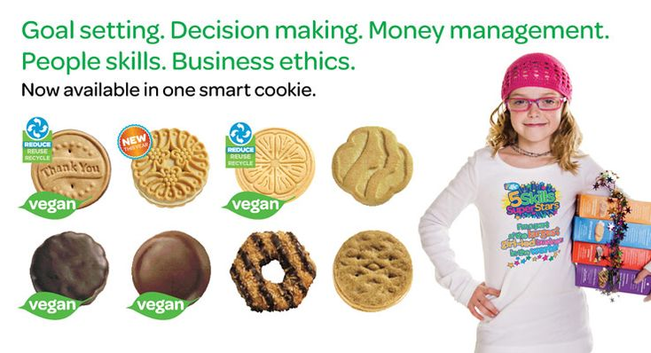 You know what's smart? Offering 4 delicious flavors of VEGAN cookies! ABC Bakers is the only Girl Scout baker that offers vegan cookies! Tell vegan friends and family out of town to contact a San Gorgonio cookie expert fast!#gscitrus