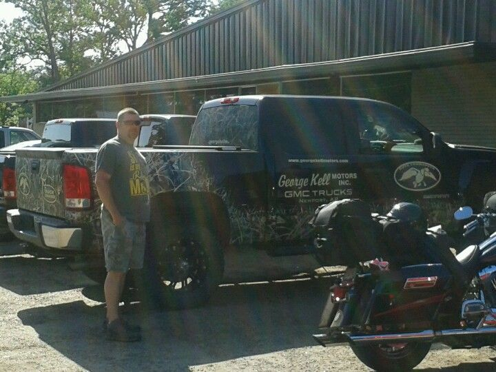 Danny with Jase's truck