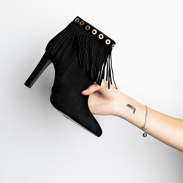 Fransen Booties sind die absoluten Fashion Highlights! Shop now >>> http:/
