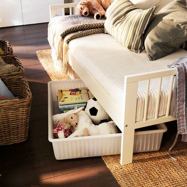 ikea-gulliver-white-kids-bed - under bed storage