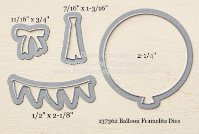 Balloon Framelit sizes shared by Dawn Olchefske #dostamping #stampinup