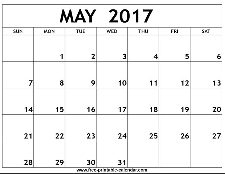 May 2017 Calendar Printable  http://www.calendarprintabletemplates.com/may-2017-calendar-printable-2.html