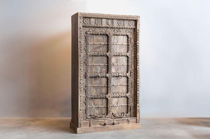 Antique door armoire