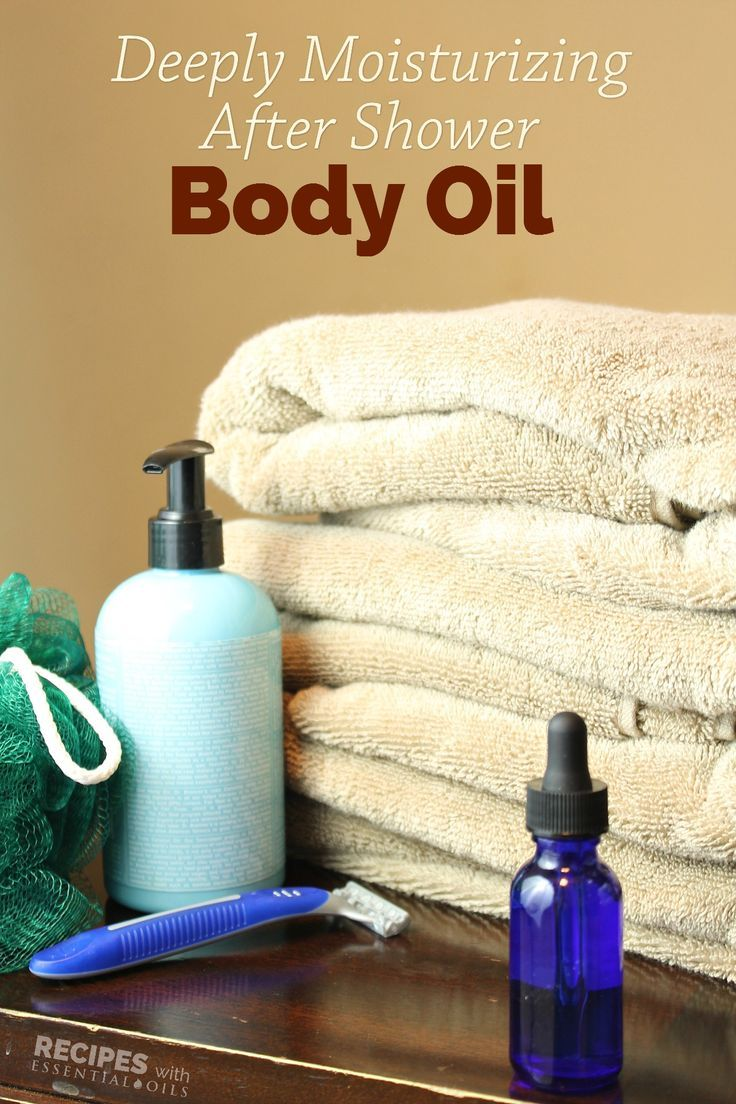 Homemade essential oil recipe for Moisturizing After Shower Body Oil from Recipes with Essential Oils