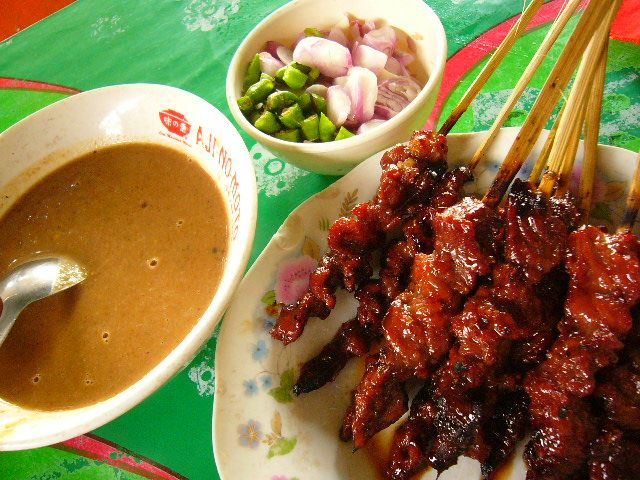 chicken satay...